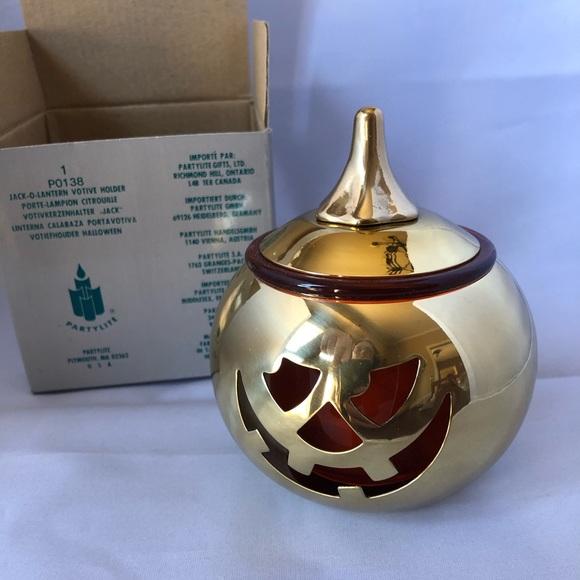PartyLite Jack-O-Lantern candle holder (New)